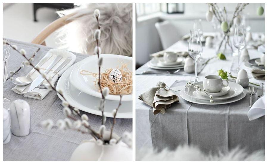 Decoración de mesa de tonos neutros, sencilla y estilo nórdico @utrillanais