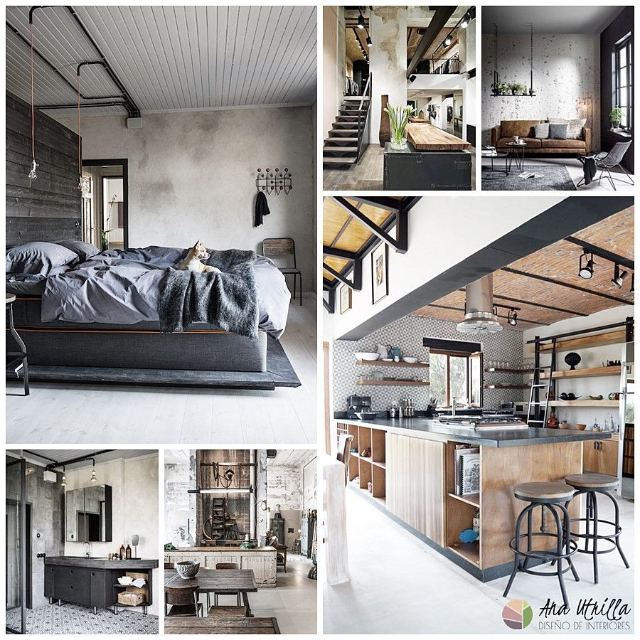 7 estilos de decoraci n de interiores en tendencia for Diseno estilo industrial