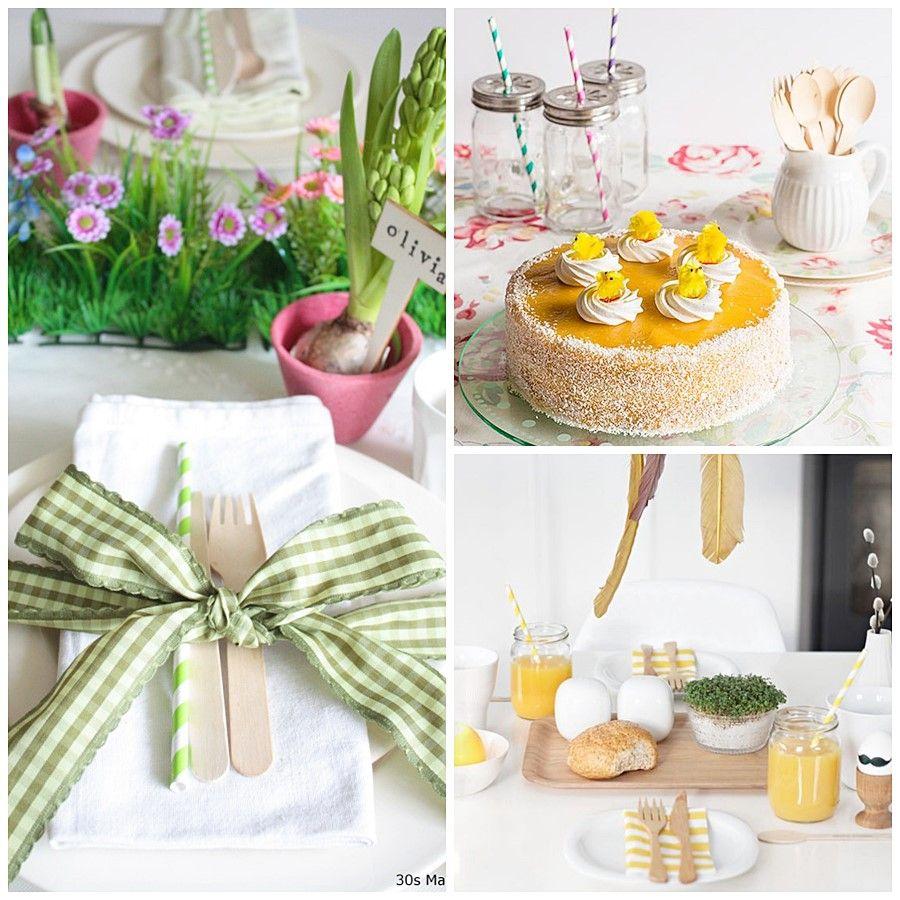 Mesas decoradas para meriendas divertidas para los más peques, en Pascua