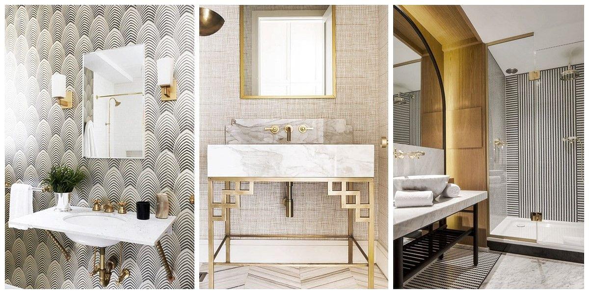 Baños de estilo Art Decó de espacios de Hostelería y restauración, interiorismo comercial
