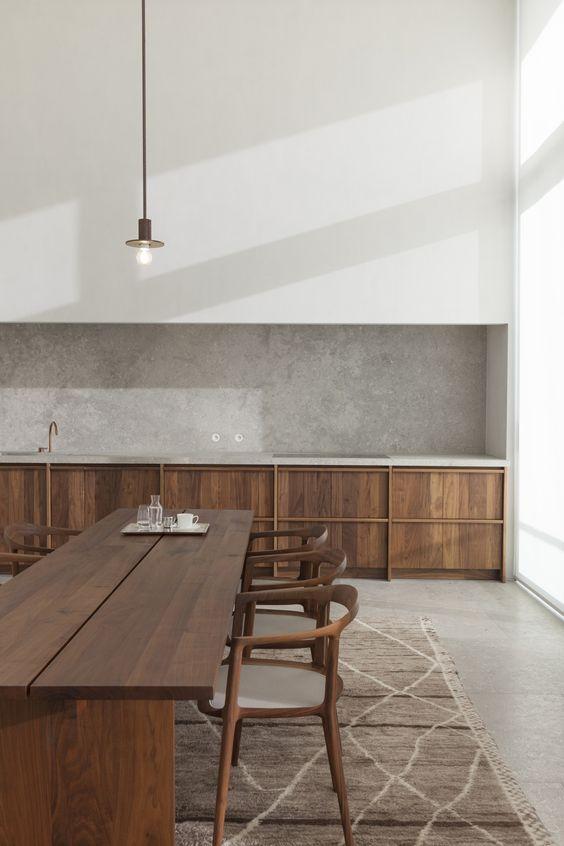 Errores al diseñar una cocina, cocina minimalista en madera