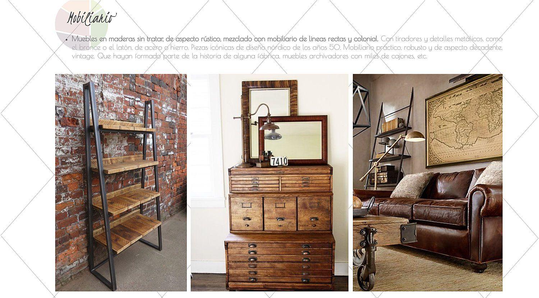 Mobiliario característico del estilo industrial