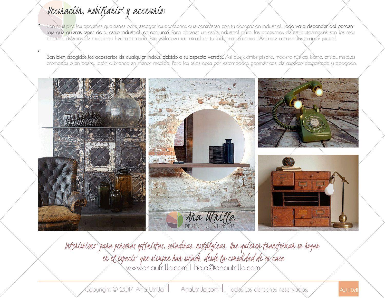 909dfd751d ESTILO INDUSTRIAL EN DECORACIÓN DE INTERIORES ⋆ Ana Utrilla Diseño ...