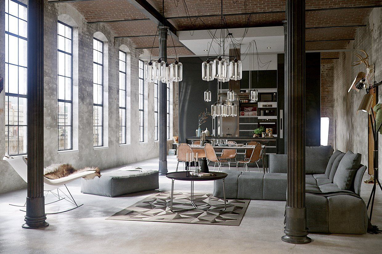 Diseño de interiores de estilo industrial