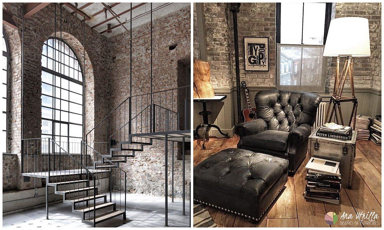 Decoración de interiores de estilo Loft industrial