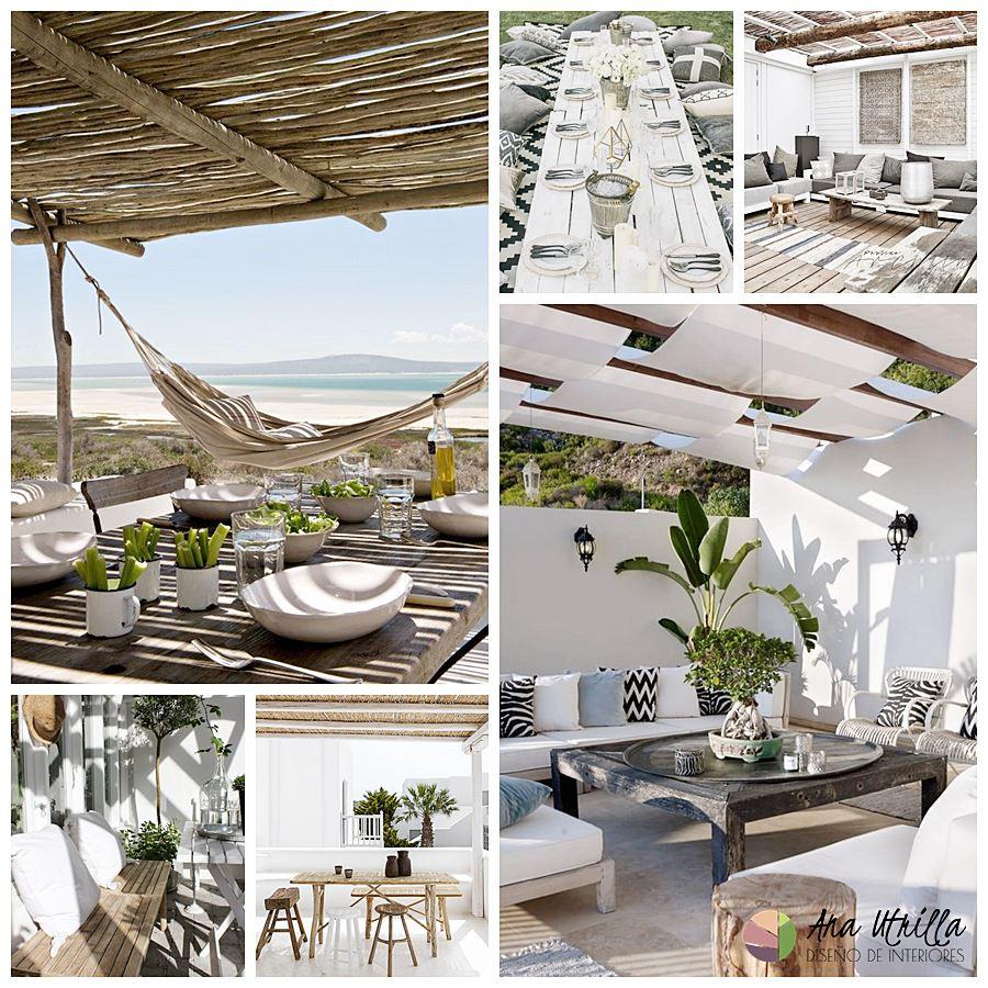 Terrazas de estilo rústico mediterráneo y nodethnic, consejos para decorar tu terraza este verano