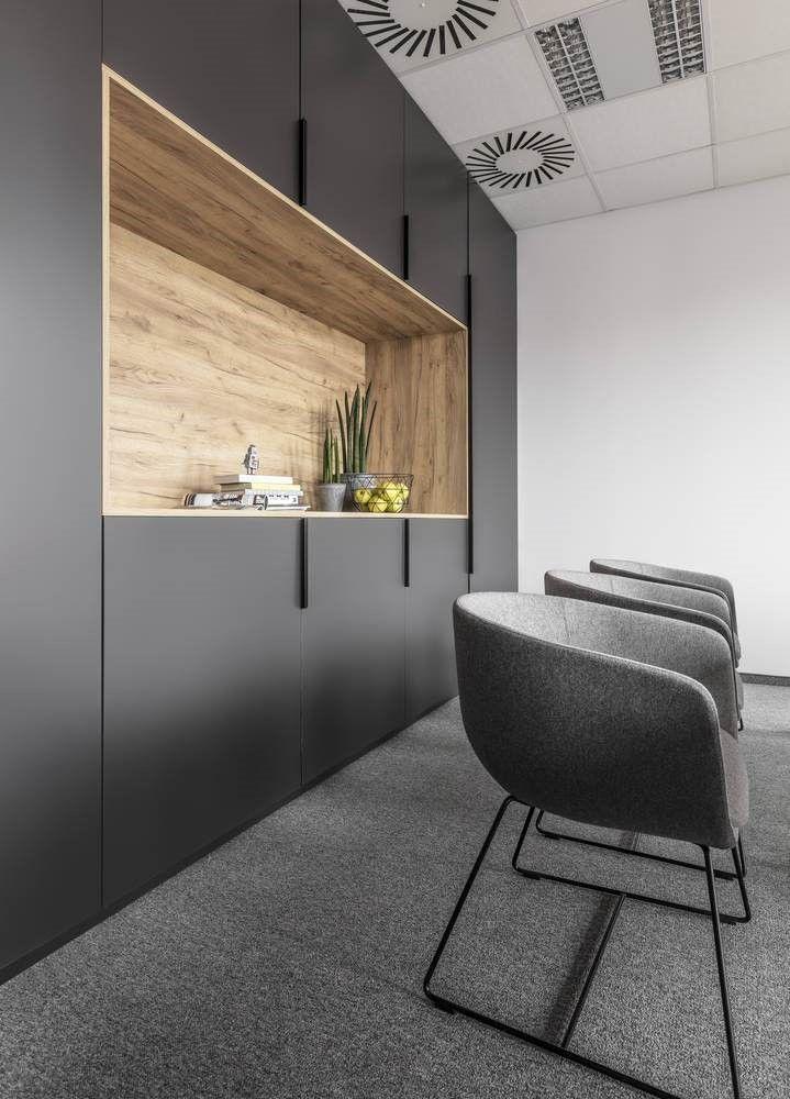 Detalle de armario de oficina de estilo contemporáneo nórdico industrial por Metaforma
