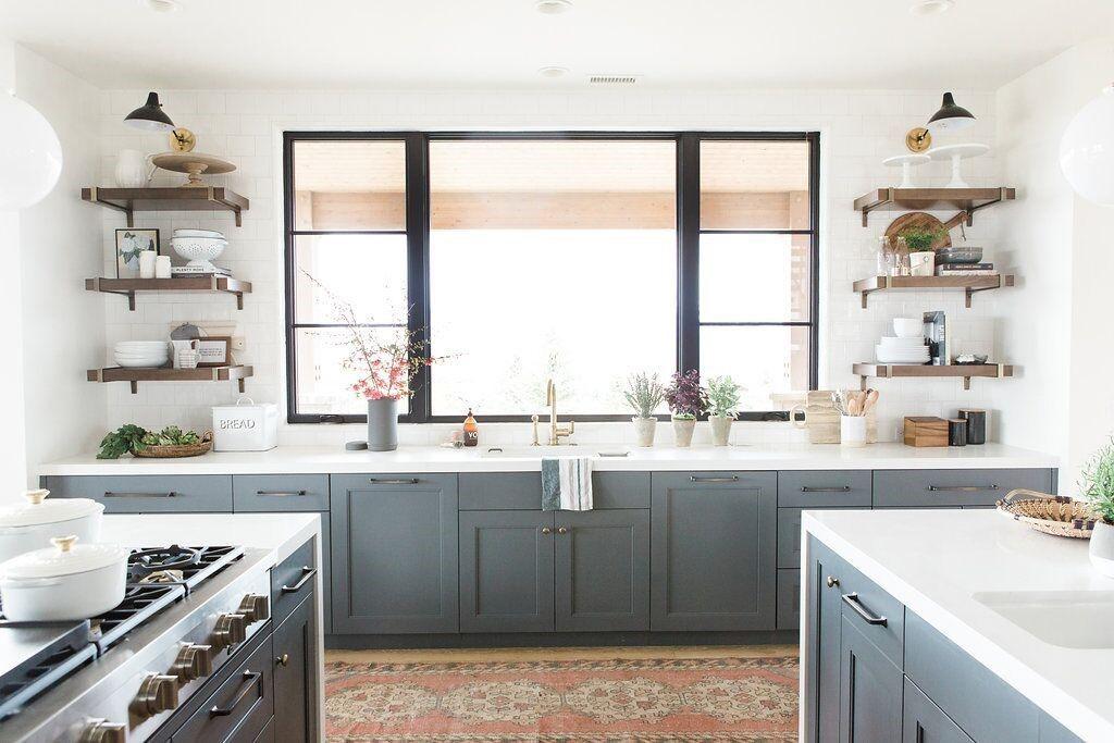 Frente de cocina de estilo farmhouse moderno o clásico renovado