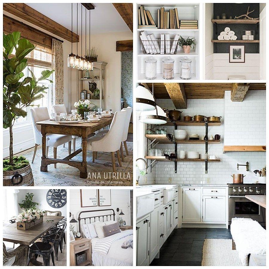 Decoración de interiores de estilo farmhouse moderno principales características para conseguir este estilo en tu hogar por @utrillanais www.anautrilla.com