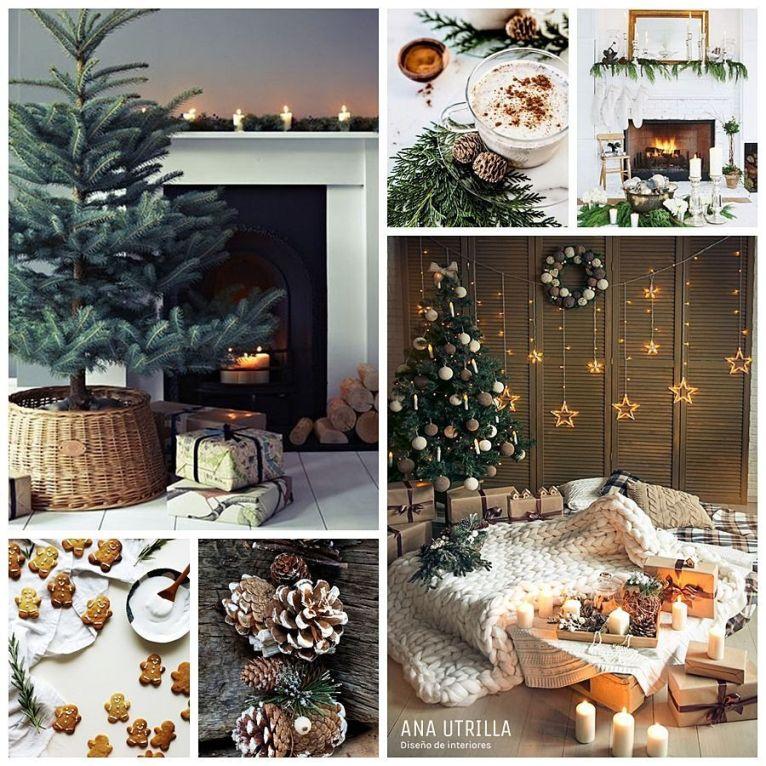 Decoracion de Navidad en tendencia acogedora, cálida y hygge @utrillanais