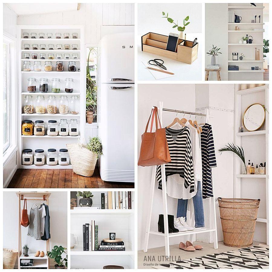 Decoración ordenada y organizada, deshazte de todo lo que nos sea imprescindible vivir una vida minimalista @Utrillanais