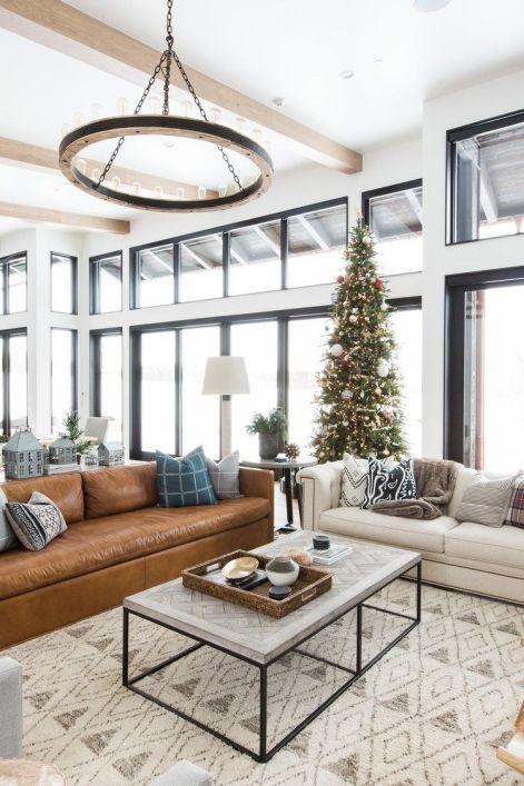 Decoración de Navidad de estilo farmhouse moderno y mid century en tonos naturales @Utrillanais