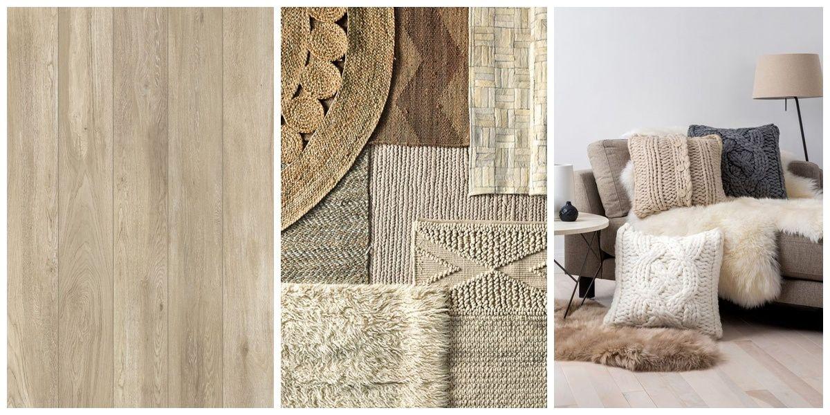 Texturas, colores y tejidos, en tonos tostados y beige para un hogar cálido y acogedor @Utrillanais