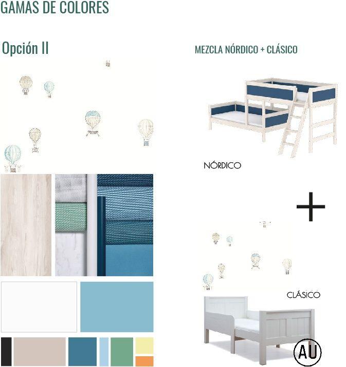 Gama de colores, texturas y estilo escogido para decorar habitación infantil en Madrid de estilo nórdico @Utrillanais