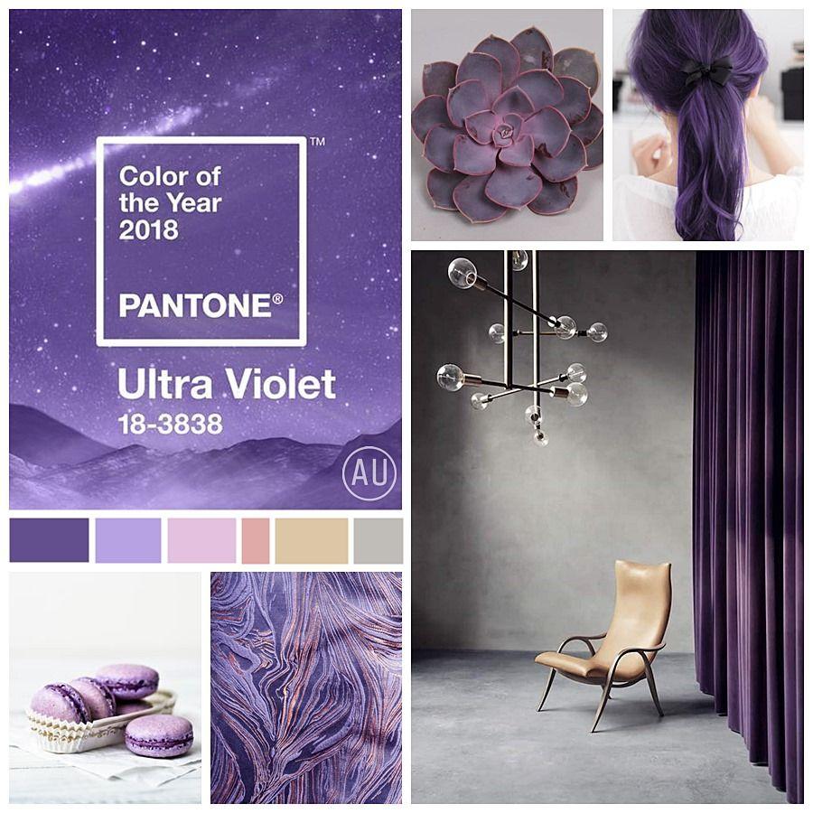 Moodboard de colores a combinar junto al Ultraviolet @Utrillanais