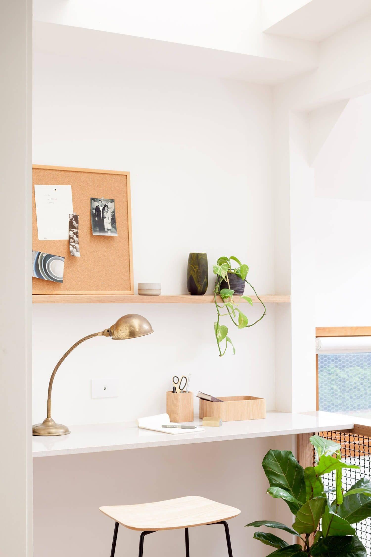 Zona de trabajo, despacho de estilo nórdico en tonos naturales @Utrillanais