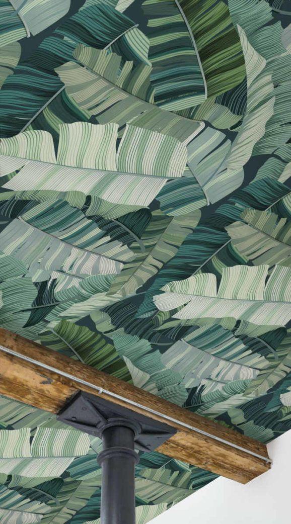 Decoración de techos con papel pintado mural tendencia 2018 @Utrillanais