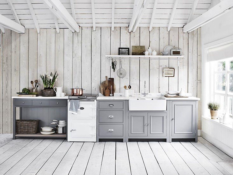 Cocina de estilo shaker Neptune madera azul