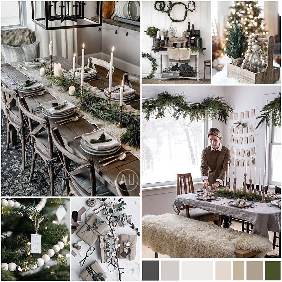 Decoración de Navidad de estilo nórdico escandinavo y kinfolk en tonos naturales @Utrillanais
