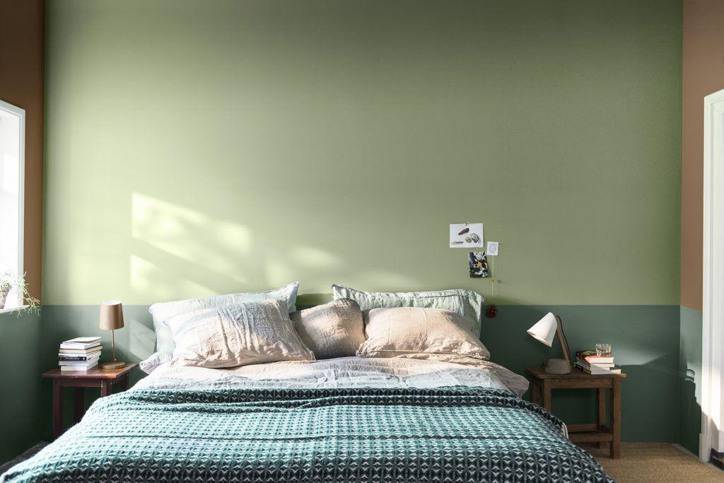 Dormitorio principal en tonos verdes, paleta de colores para amar escogida por Color Future 2019 @Utrillanais