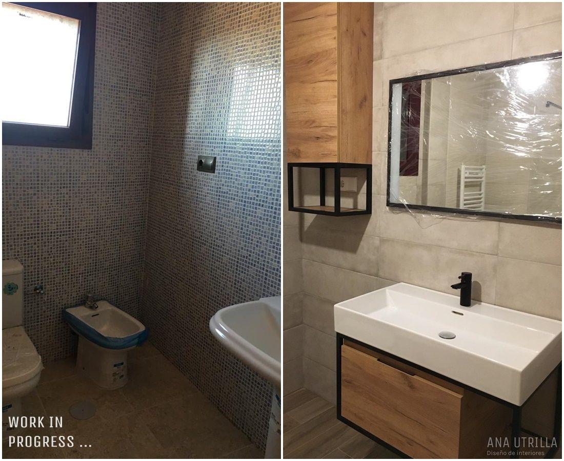 Progreso de proyecto de diseño de interiores y decoración para toda la vivienda en Ciudad Real de estilo Kinfolk @Utrillanais