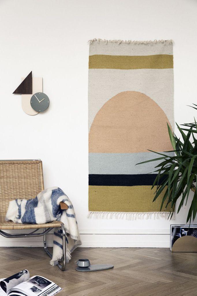 Tendencias decoración 2019 colgar alfombras de ferm living, @Utrillanais