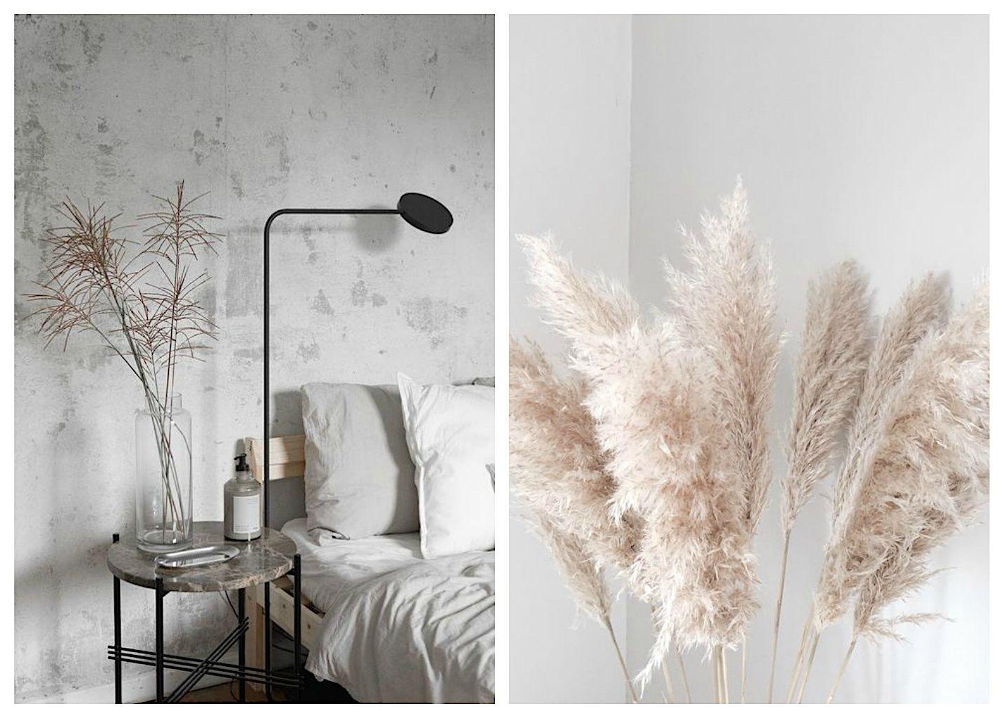Tendencias en decoración de interiores, decorar con flores y hierba secas, @Utrillanais