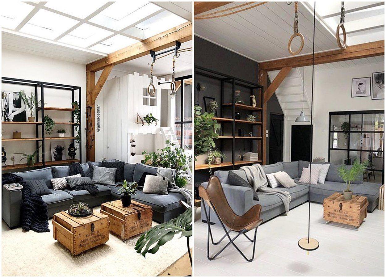 Salones de estilo nórdico-industrial-rústico en tonos neutros, consejos imprescindibles para escoger tu mobiliario @utrillanais