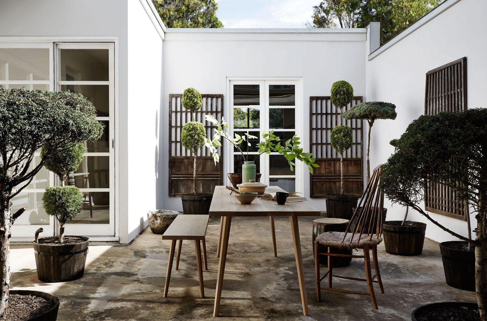 Tendencias de estilo de decoración de interiores, terraza de estilo Kinfolk @Utrillanais