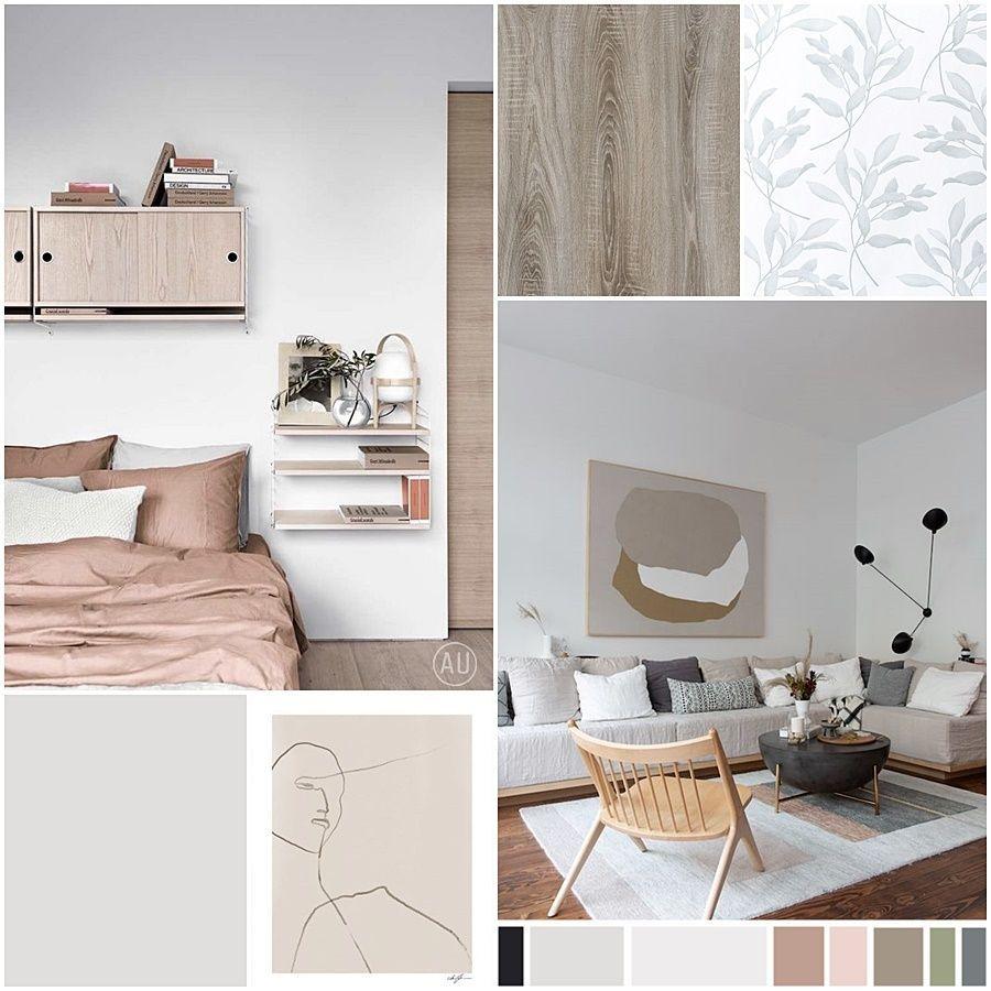 Moodboard de materiales, paleta de colores e imágenes de referencia para escoger el manual de estilo decorativo de este proyecto de diseño de interiores a medida en Madrid #Slowinteriordesign #AnaUtrillainteriorismo @utrillanais