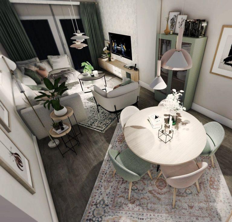 Diseño de interiores a medida en 3D en Madrid, proyecto de interiorismo online de estilo escandinavo y toques femeninos #Anautrillainteriorismo @utrillanais