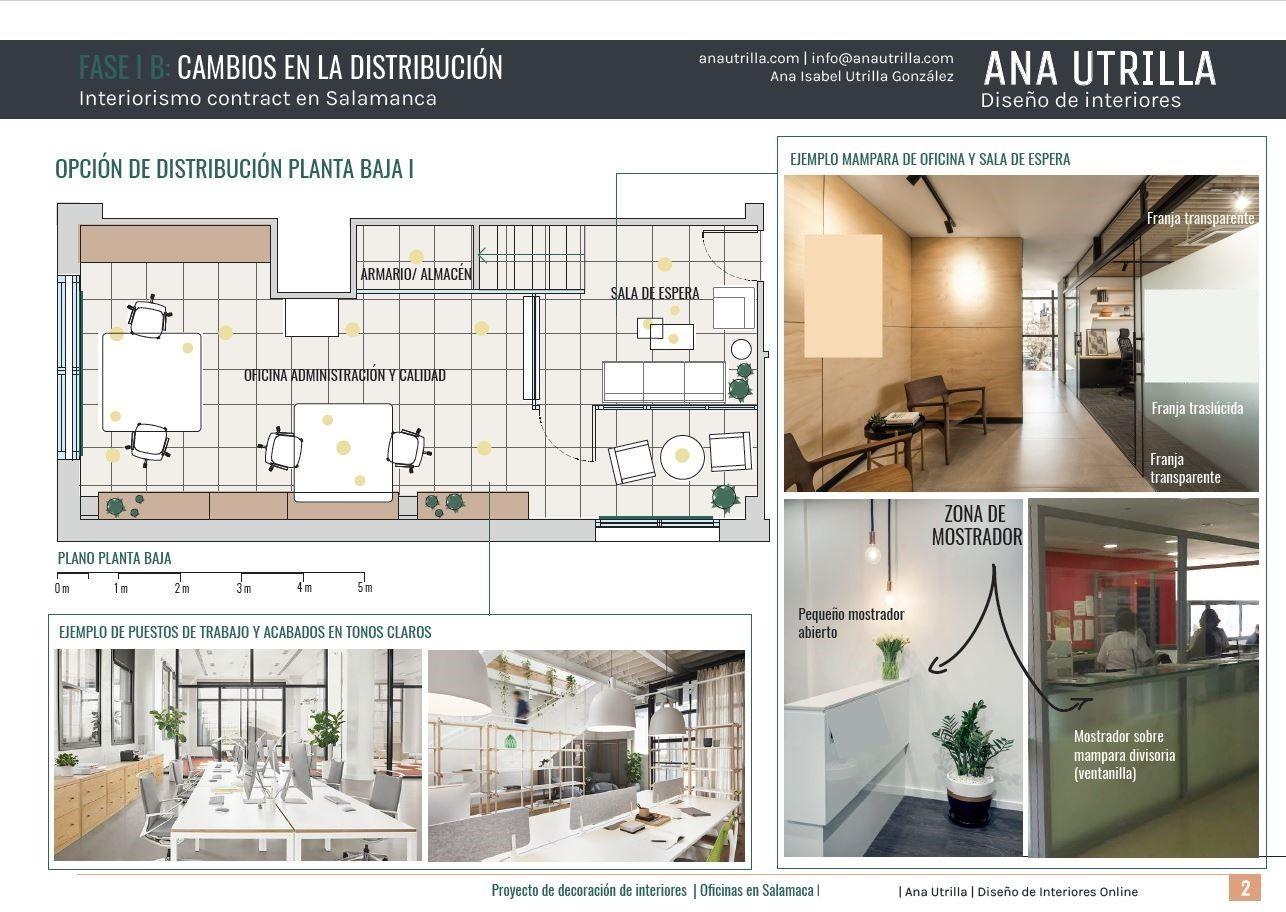 Plano de planta y distribución de mobiliario de oficina en Salamanca, proyecto de interiorismo contract 2D #Diseñocasasconencanto #Anautrillainteriorismo @Utrillanais
