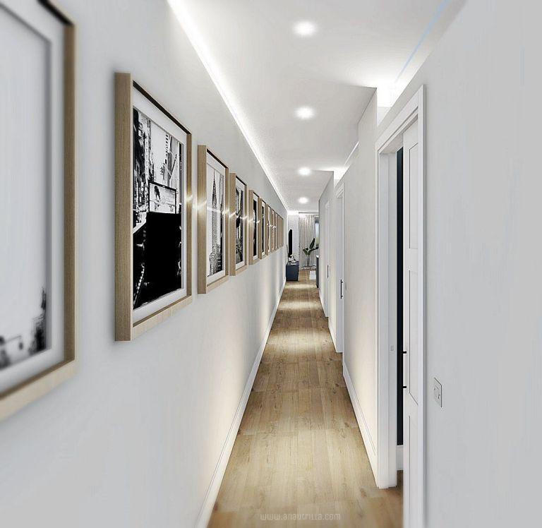 Zona de pasillo de vivienda de segunda mano, después de proyecto de diseño de interiores en 3D a medida en Valladolid #Anaurtrillainteriorismo #slowinteriordesign @utrillanais