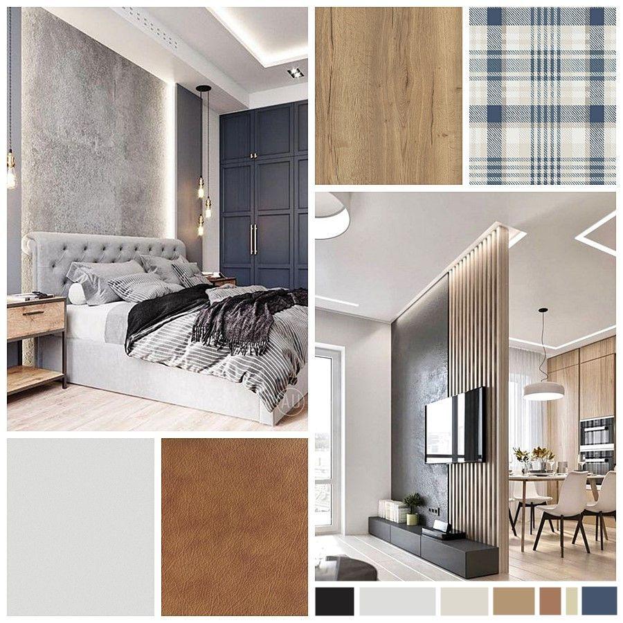 Moodboard proyecto de diseño de interiores con gama de azules como protagonistas, ejemplo de cómo puedes incluir el color pantone 2020 a la decoración de interiores de tu hogar @utrillanais