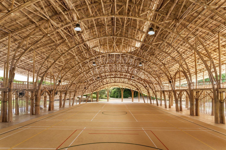 Biomateriales para construcción y diseño sostenible, en este caso estructura hecha con bambú de Alberto Cosi @Utrillanais