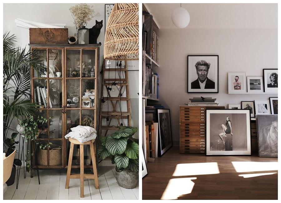Personaliza tu espacio de trabajo, tu oficina en casa con plantas, almacenaje piezas heredadas, fotografías, etc. #homeoffice #oficinaencasa @utrillanais