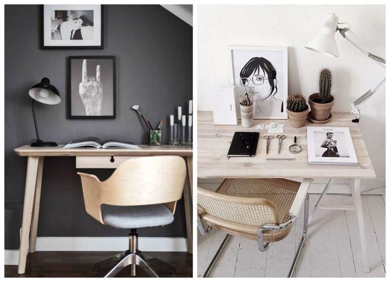 Espacios de trabajo desde casa, zona de escritorio de tonos neutros y estilo escandinavo o vintage. #homeoffice #oficinaencasa @utrillanais
