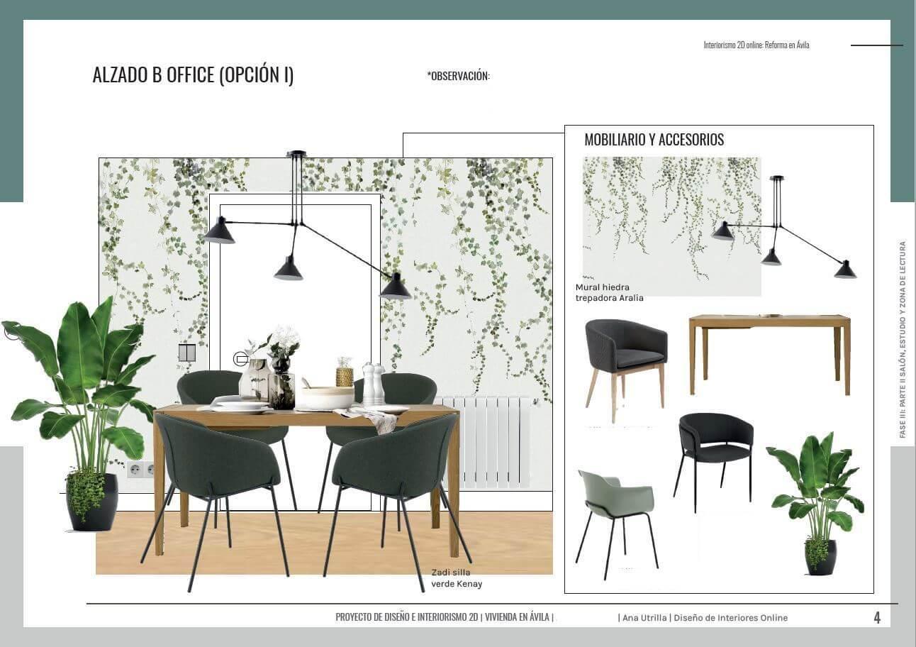Alzados en 2D de la zona de cocina de estilo nórdico-industrial, proyecto de reforma integral en Ávila. #AnaUtrillainteriorismoonline #AnaUtrillainteriorista