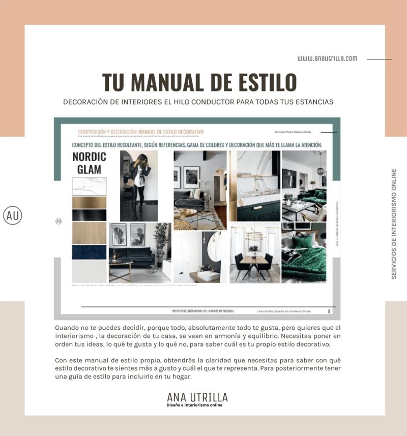 Servicio de interiorismo online, consigue claridad con tu propio manual de estilo decorativo. #AnaUtrillainteriorismoonline #decoracioninterioresonline