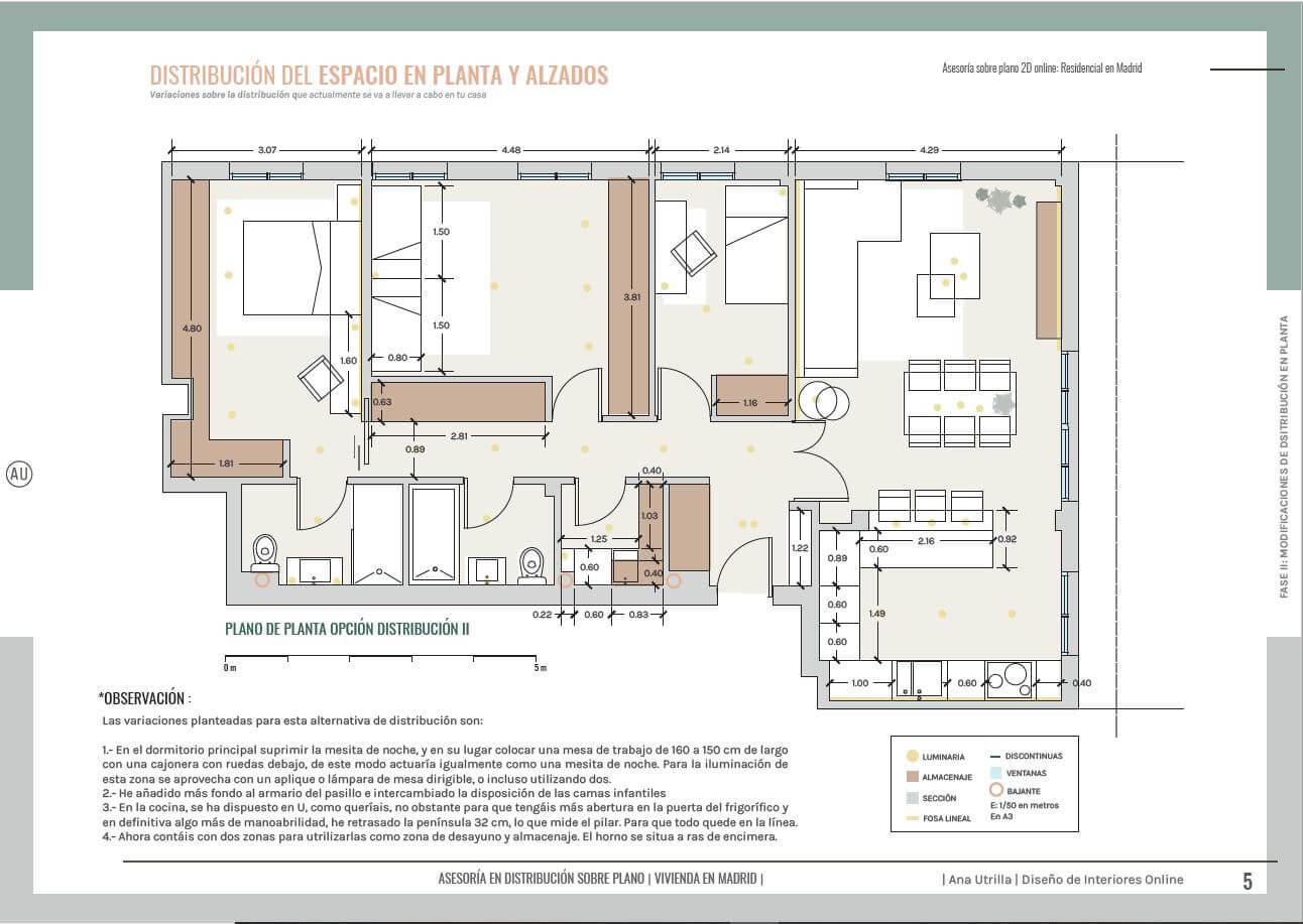 Servicio de asesoría en distribución del espacio y diseño de mobiliario sobre plano. Planifica tus ideas y el espacio de tu casa, antes de invertir en la reforma de tu hogar. #AnaUtrilla #Diseñodeinterioresonline