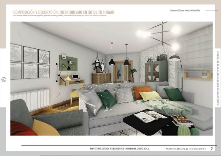 Servicio de diseño e interiorismo online, diseño hogares con encanto en 3D, para que puedas ver el resultado que tendrá tu casa antes de invertir en su reforma, y dejar de imaginar. #AnaUtrilla #Interiorismoonline #Diseñodeinterioresen3D