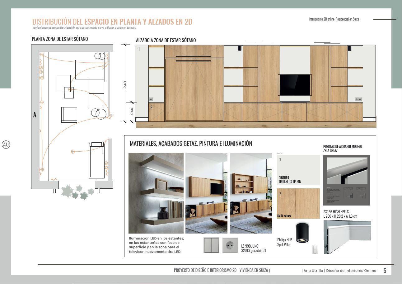 Alzados acotados en 2D de armario a medida en zona de estar y dormitorio. Diseño de mueble a medida para vivienda de estilo contemporáneo y toques mediterráneos en Suiza. @Utrillanais #AnaUtrilla #Interiorismoonline