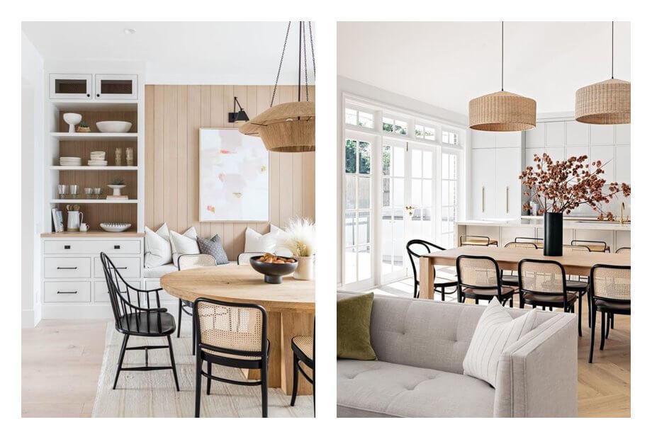 Espacios de salón comedor de concepto abierto estilo mediterráneo nórdico, neutros. Como evitar que tu espacio neutro parezca soso, con estos consejos de interiorismo eficaces. #AnaUtrilla #Interiorismoonline