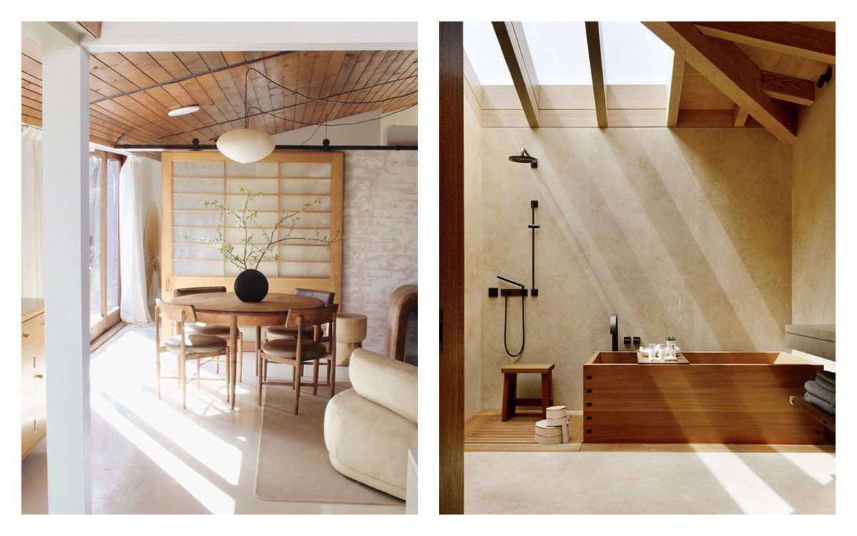 Espacios neutros, en armonía, de suaves líneas rectas, minimalistas, como es el estilo Japandi, una mezcla entre elementos escandinavos y japoneses. #AnaUtrilla #interiorismoonline