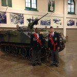 BC PC Colour Guard SGTS at Beatty Street Armouries after St Patrick's Day Parade 2015 Vancouver