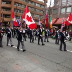 St Patricks Day Parade 2015 Vancouver - Combined BCPC Colour Guard, Lower Mainland Colour Party and the Beatty Street Armoury cadets