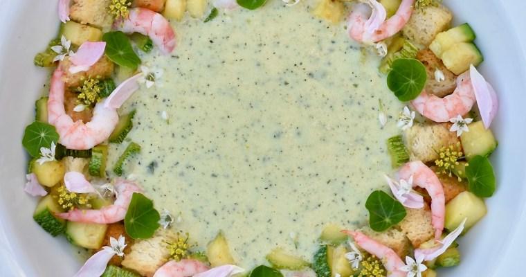 Squashsoppa med ost