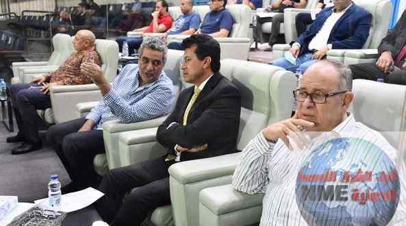 وزير الرياضة يشهد مباراة المنتخب الأولمبي أمام جنوب افريقيا