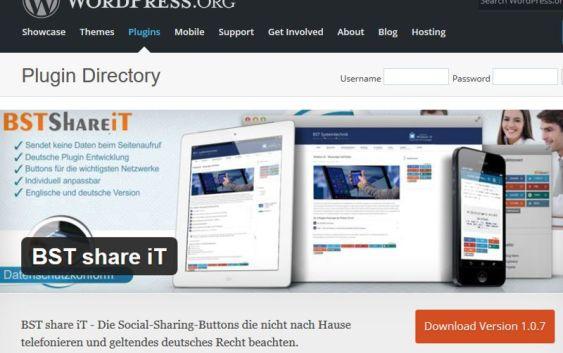 Der Rechtskonforme Share Button von BST