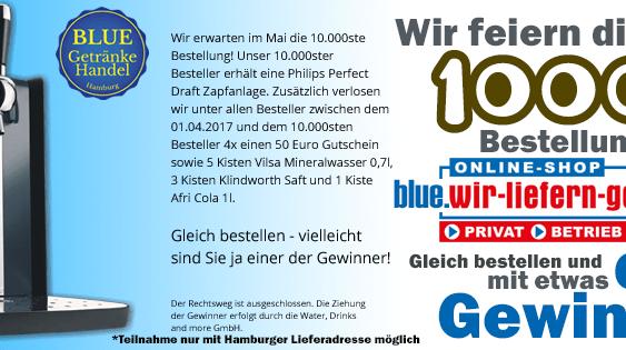 Jetzt bei BLUE Getränke Handel Hamburg eine Perfect Draft Bierzapfanlage gewinnen